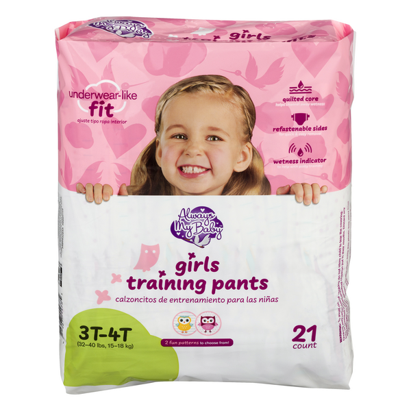 Always My Baby 3T-4T Training Pants Girls 32-20 lbs