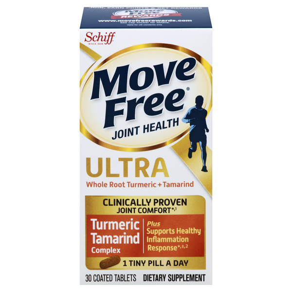 Schiff Move Free Ultra Whole Root Turmeric + Tamarind Coated Tablets