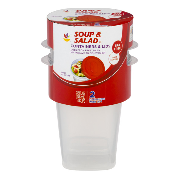 Giant Soup & Salad Containers & Lids BPA Free
