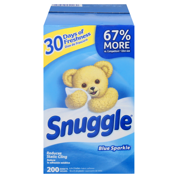 Snuggle Dryer Sheets Blue Sparkle