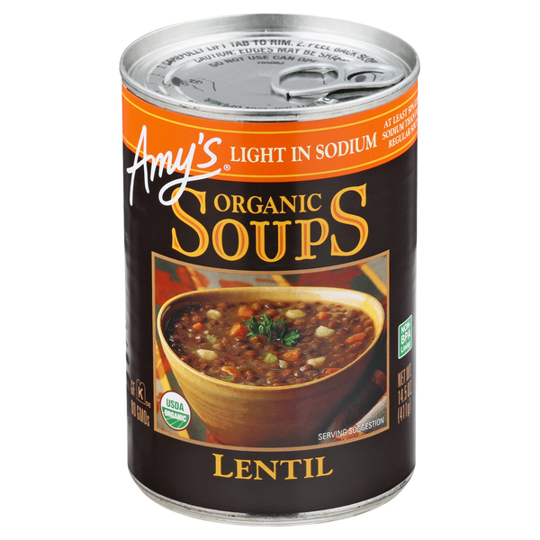 Amy's Lentil Soup Light in Sodium Organic
