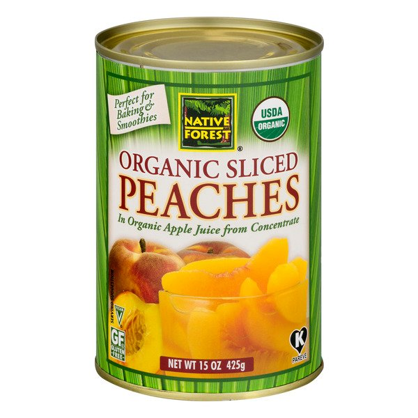 Native Forest Peaches Sliced Organic