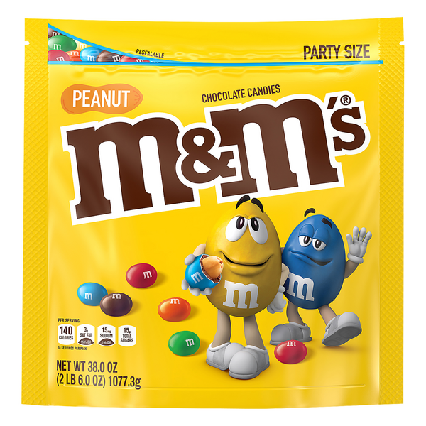 M&M's Peanut Chocolate Candies Party Size