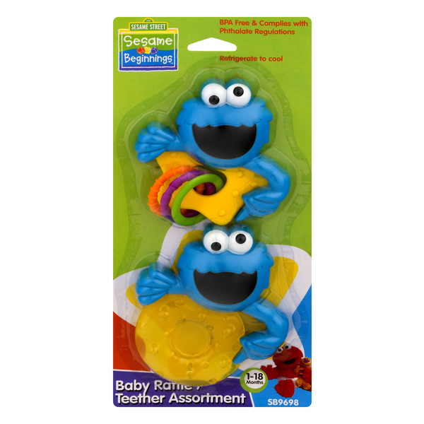 Sesame Beginnings Sesame Street Baby Rattle Teether Assortment
