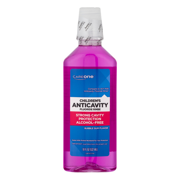 CareOne Children's Fluoride Rinse Anticavity Bubble Gum Flavor