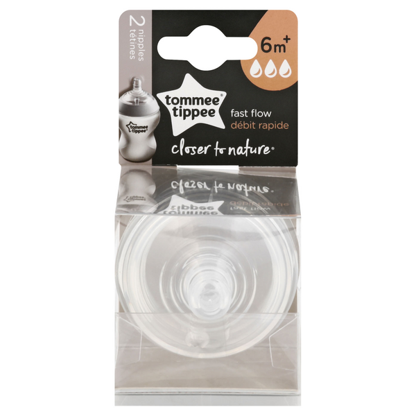 Tommee Tippee Closer To Nature Fast Flow Nipples 6m+
