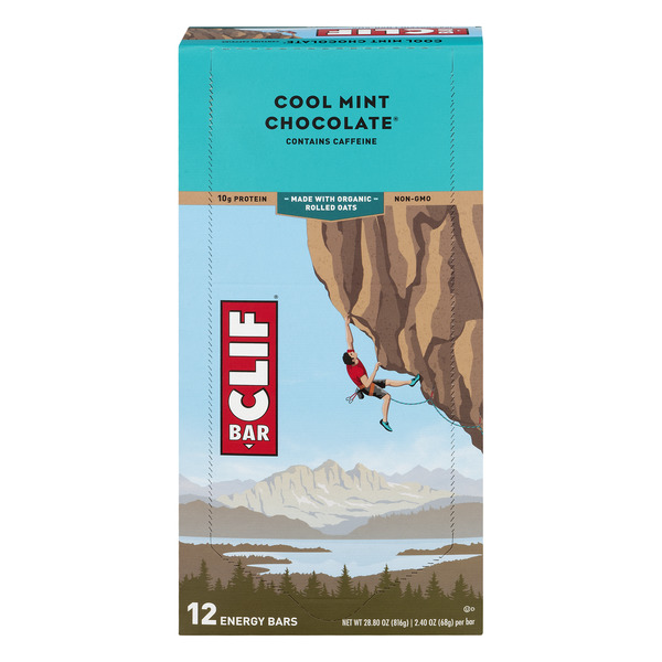 Clif Energy Bars Cool Mint Chocolate Organic - 12 ct
