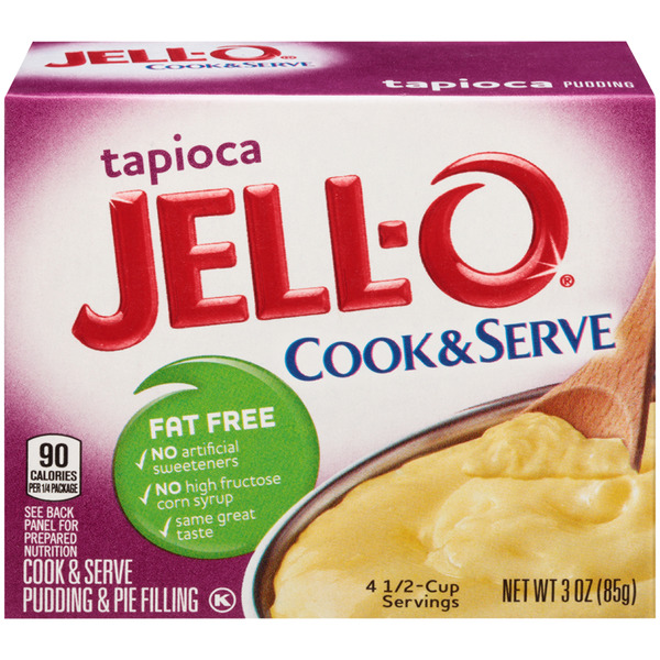 Jell-O Cook & Serve Pudding & Pie Filling Tapioca Fat Free