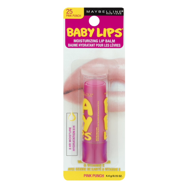 Maybelline Baby Lips Moisturizing Lip Balm Pink Punch 25