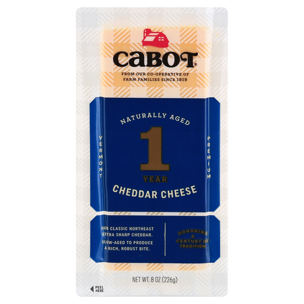 Cabot Hand Select Premium Cheddar Cheese Extra Sharp Yellow