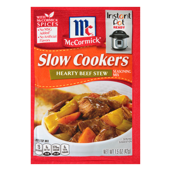 McCormick Slow Cookers Hearty Beef Stew Seasoning Mix Packet