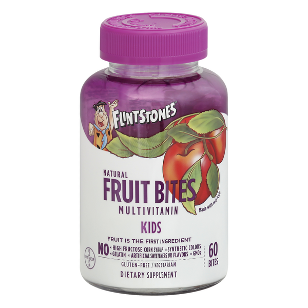 Flintstones Kids Natural Fruit Bites Multivitamin Supplement