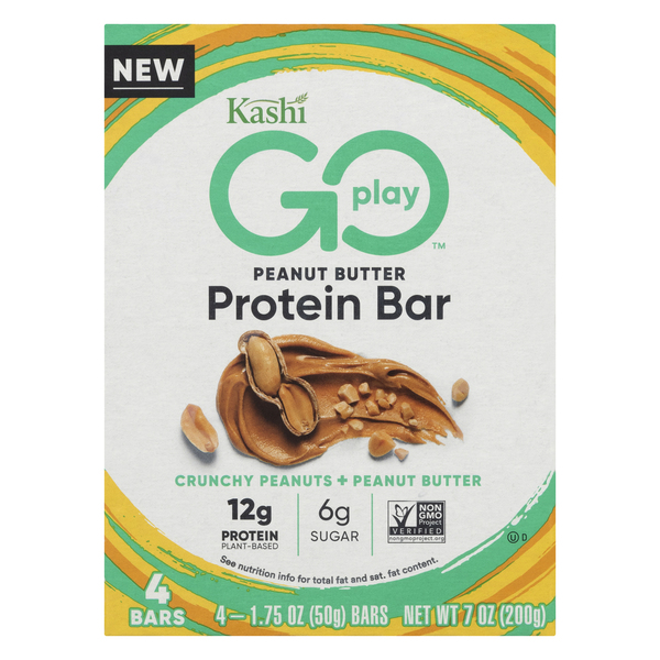 Kashi Go Play Protein Bar Peanut Butter - 4 ct