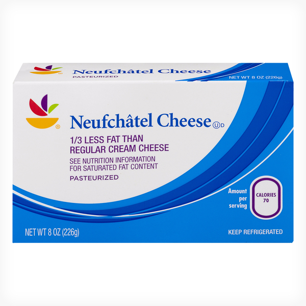 Giant Neufchatel Cheese 1/3 Less Fat Brick