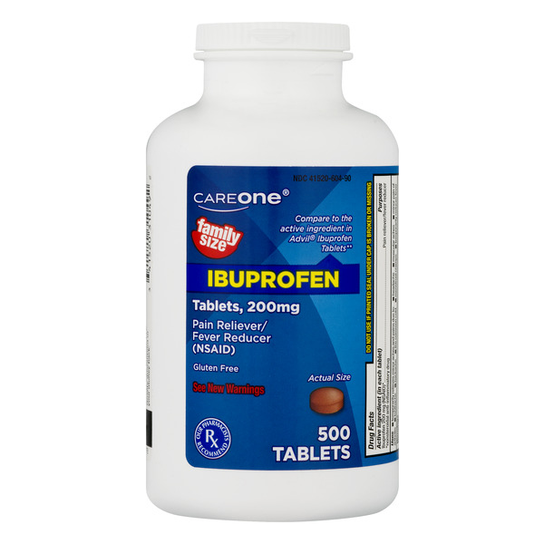 CareOne Ibuprofen Pain Relief 200 mg Tablets Gluten Free