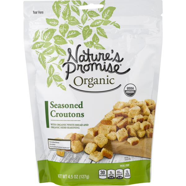 Nature's Promise Organic Croutons Seasoned