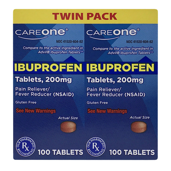 CareOne Ibuprofen 200 mg Pain Relief Tablets Twin Pack