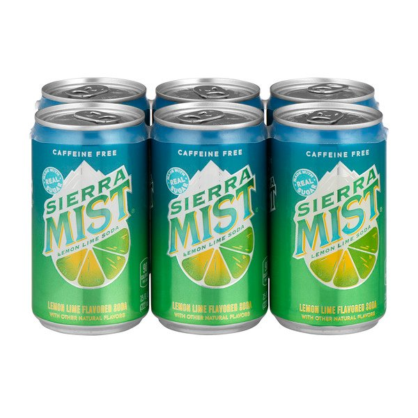 Sierra Mist Lemon Lime Soda Mini Cans Caffeine Free - 6 pk