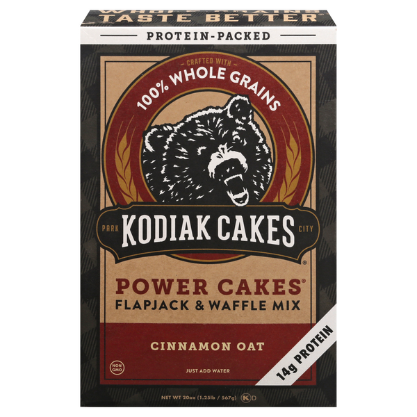 Kodiak Cakes Power Cakes Flapjack and Waffle Mix Cinnamon Oat
