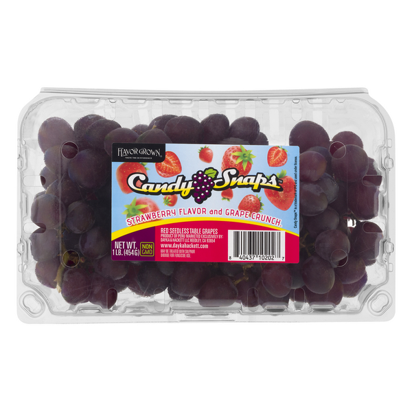 Candy Snaps Seedless Red Grapes Strawberry Flavor