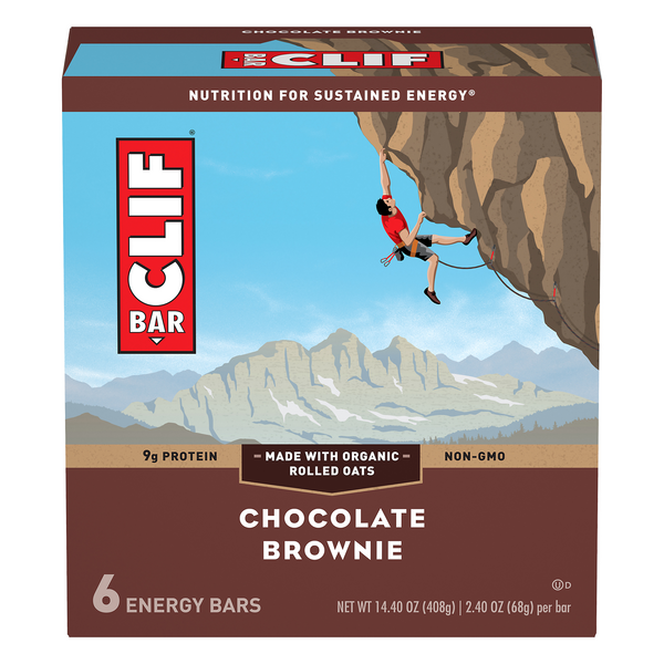 Clif Energy Bars Chocolate Brownie - 6 ct