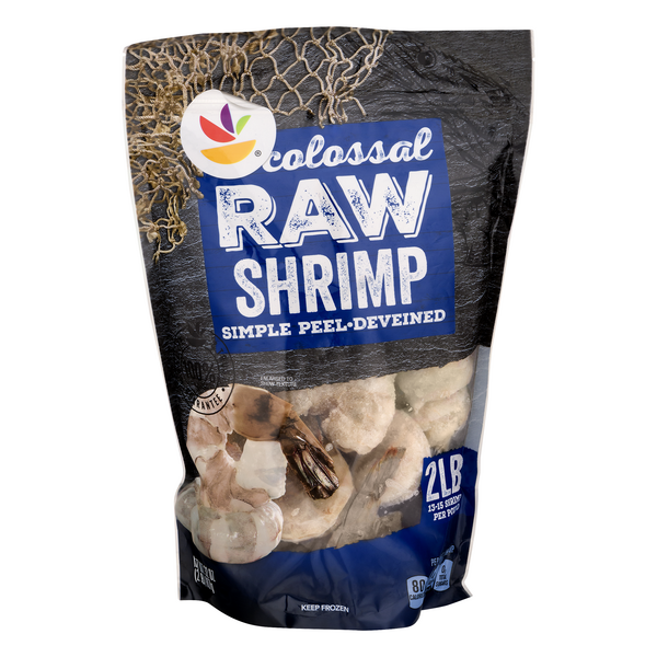 Giant Raw Shrimp Simple Peel Colossal 13-15 ct per lb Frozen