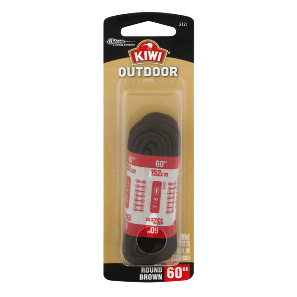 Kiwi Outdoor Laces Round Brown 60 Inch