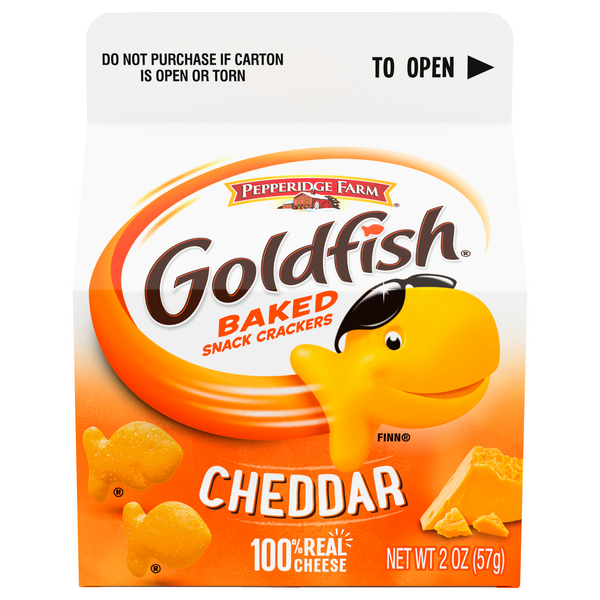 Pepperidge Farm Goldfish Baked Snack Crackers Cheddar Cheese