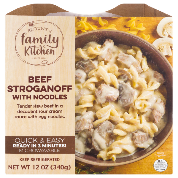 Blount's Family Kitchen Beef Stroganoff