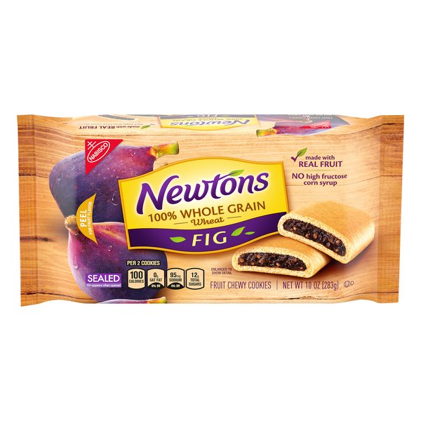 Nabisco Newtons 100% Whole Grain Wheat Fruit Chewy Cookies Fig