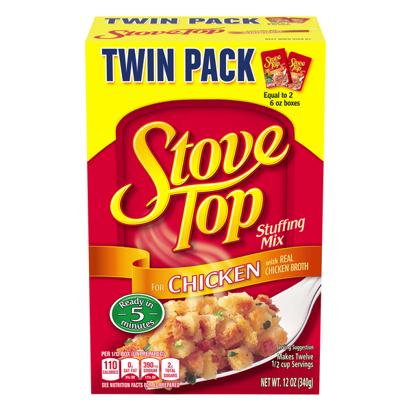 Stove Top Stuffing Mix For Chicken Twin Pack
