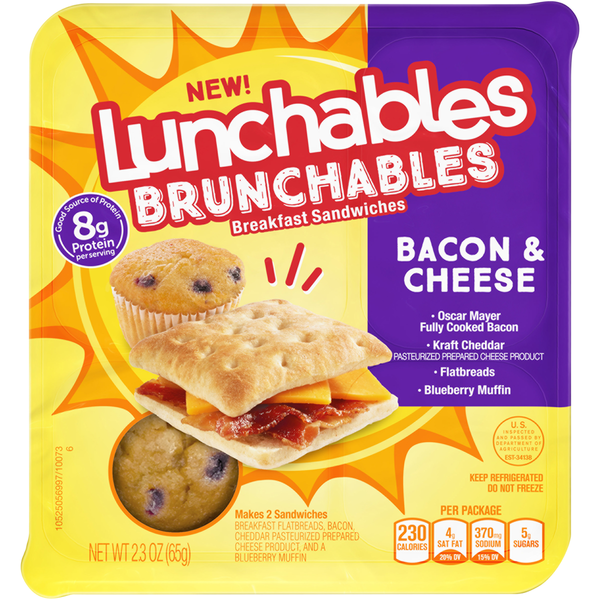 Lunchables Brunchables Breakfast Sandwiches Bacon & Cheese