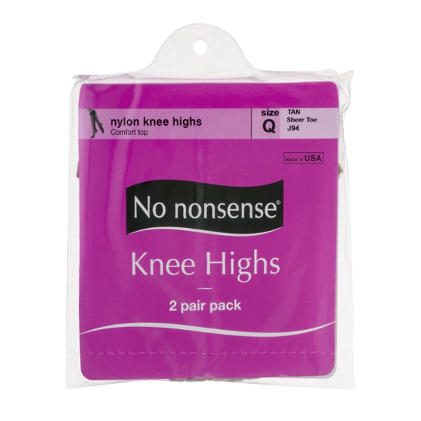 No Nonsense Pantyhose Knee Highs Tan Size Q