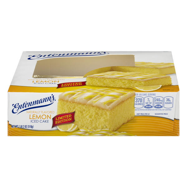 Entenmann's Iced Cake Lemon Limited Edition