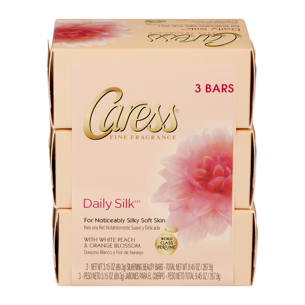 Caress Beauty Bars Daily Silk - 3 ct