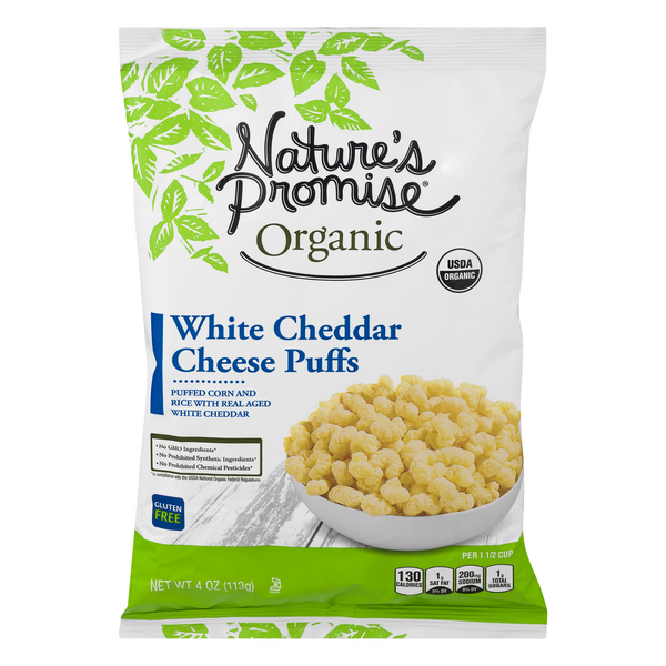 Nature's Promise Organic Cheese Puffs White Cheddar