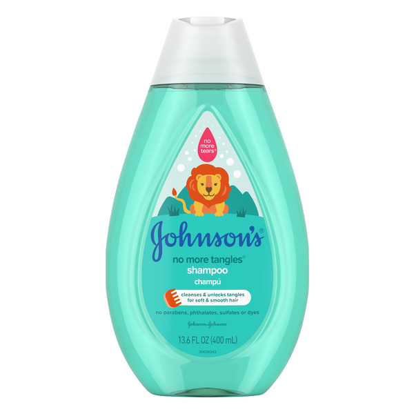 Johnson's No More Tangles Shampoo No Parabens, Phtalates, Sulfates or Dyes