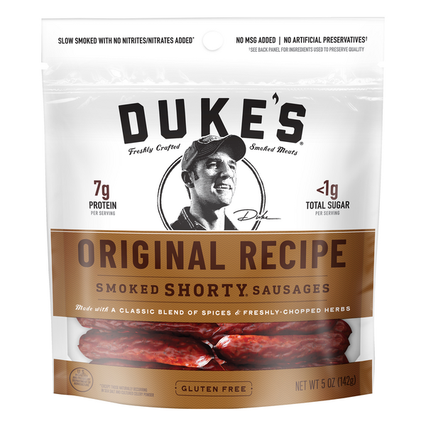 Duke's Smoked Shorty Sausages Original Recipe Gluten Free