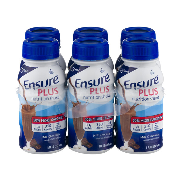 Ensure Plus Milk Chocolate Nutrition Shake - 6 pk