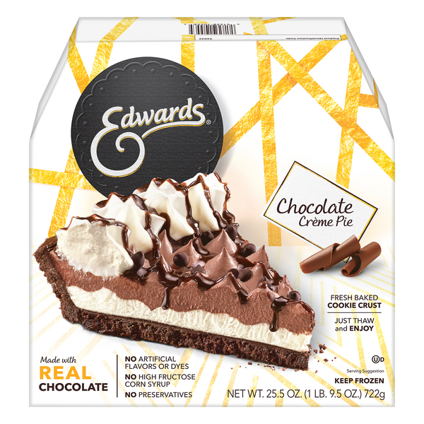 Edwards Pie Hershey's Chocolate Creme Thaw & Serve Frozen
