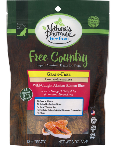 Nature's Promise Free from Country Grain Free Salmon Bites Dog Treats