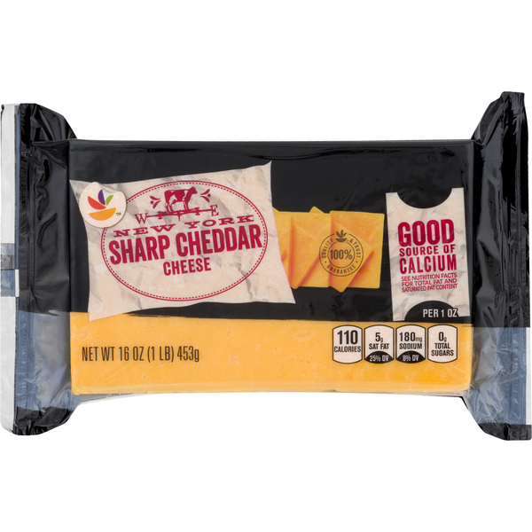 Giant New York Cheddar Cheese Sharp Chunk Natural
