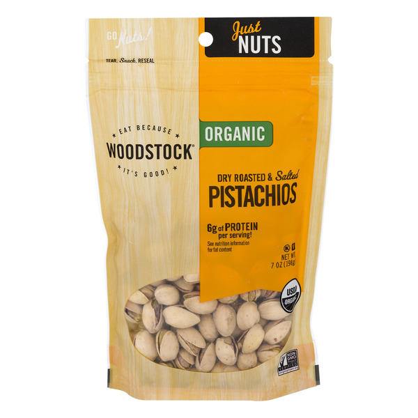 Woodstock Pistachios Dry Roasted & Salted Organic