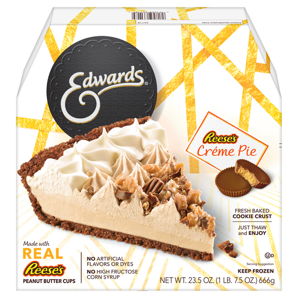 Edwards Pie Reese's Peanut Butter Cups Creme Thaw & Serve Frozen