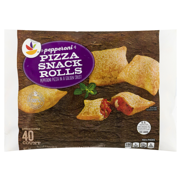 Stop & Shop Pizza Snack Rolls Pepperoni - 40 ct