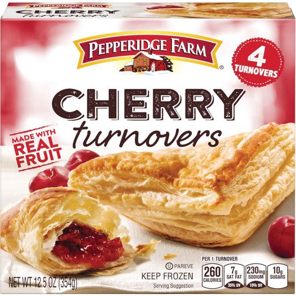 Pepperidge Farm Frozen Cherry Turnovers Pastries 12.5 oz. Box 4-pack