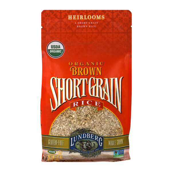 Lundberg Brown Rice Short Grain Whole Grain Gluten Free Organic