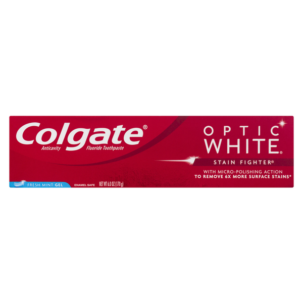 Colgate Optic White Stain Fighter Fresh Mint Gel Toothpaste