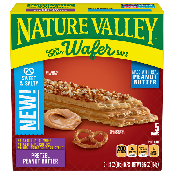 Nature Valley Crispy Creamy Wafer Bars Pretzel Peanut Butter - 5 ct
