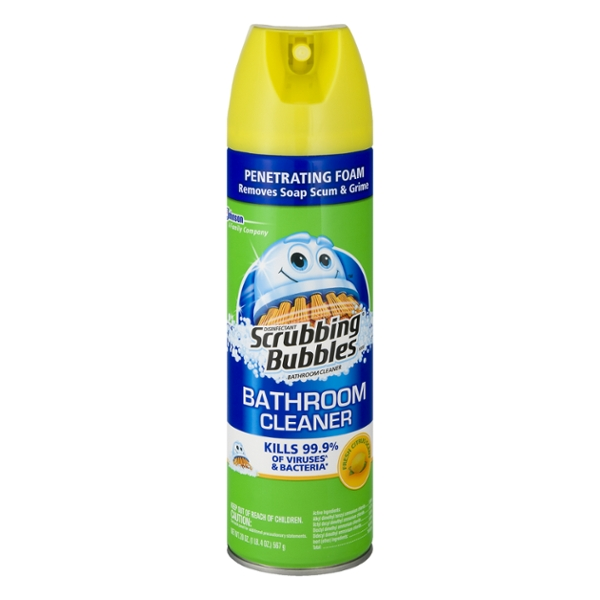 Scrubbing Bubbles Bathroom Cleaner Citrus Scent Foaming Aerosol